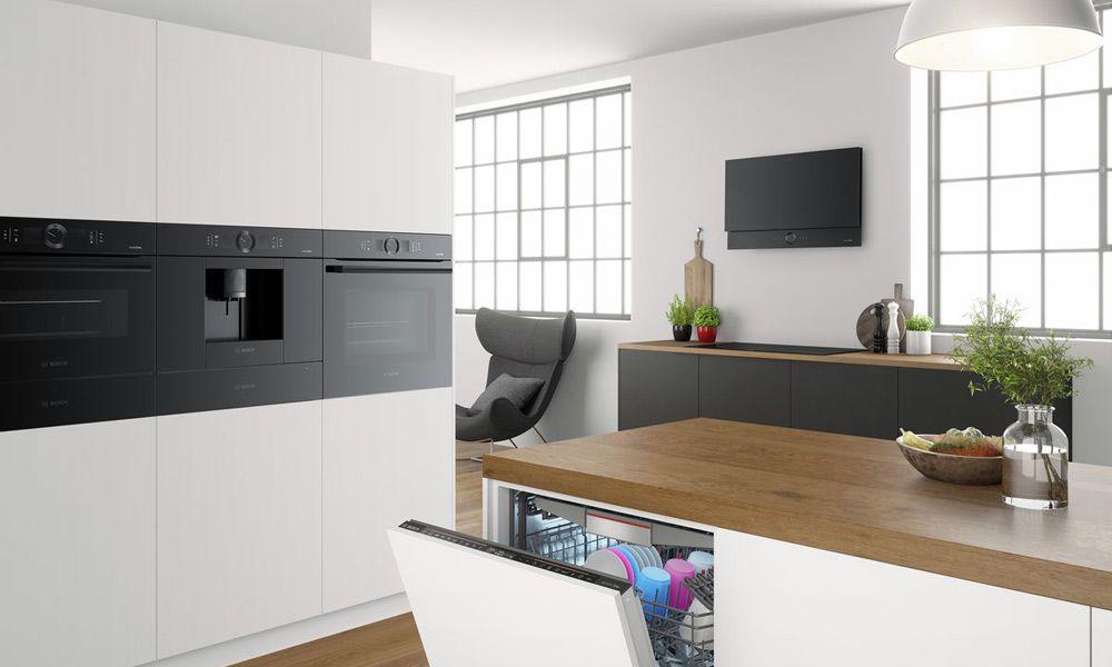 Bosch Kühlschrank Schwarz Glas : Bosch accent line in carbon black miele waschmaschine reparieren